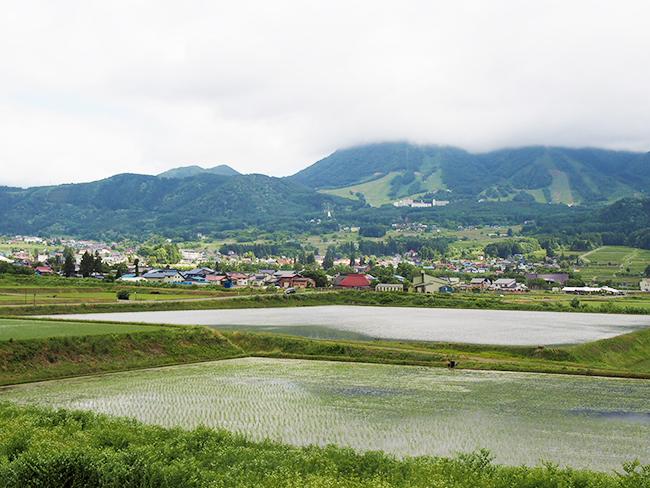 木島平村風景